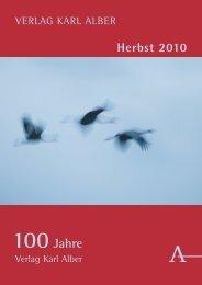 Weitere Titel im Herbst 2010 - Verlag Karl Alber