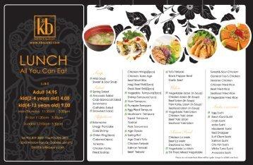 LUNCH - k & b sushi