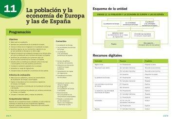 La población y la economía de Europa y las de España