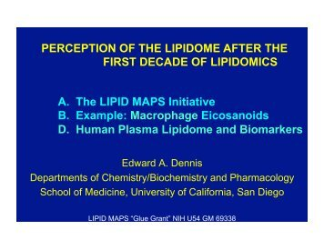 Our perception of the lipidome after the first decade of ... - Lipid Maps