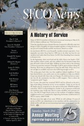 A History of Service - SECO Energy