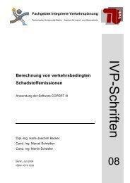 Berechnung von verkehrsbedingten Schadstoffemissionen