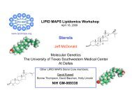 Sterols ASBMB 2009 - Lipid Maps