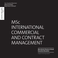 MSc International Commercial and Contract Management