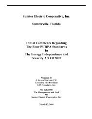 Sumter Electric Cooperative, Inc. Sumterville, Florida ... - SECO Energy