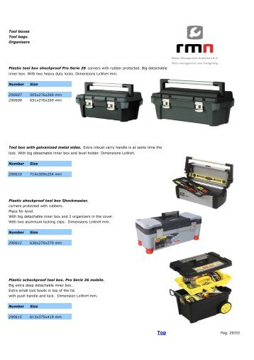 Tool boxes, Tool bags and organisers