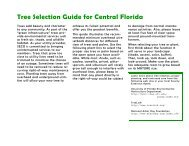Tree Selection Guide for Central Florida (pdf) - SECO Energy
