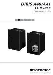 Diris A40 Modbus/TCP - SHM Communications Ltd