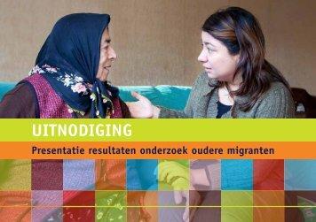 Presentatie resultaten onderzoek oudere migranten