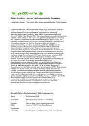 Vorbericht - Rallye200-info