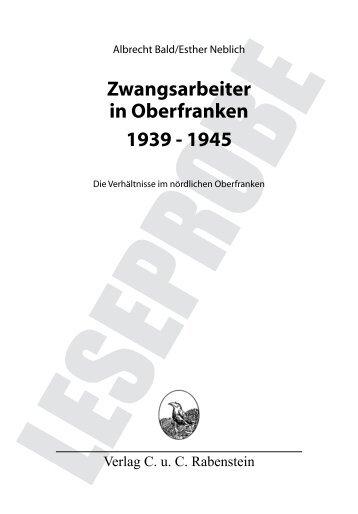 Zwangsarbeiter in Oberfranken 1939 - 1945 - verlag-rabenstein.de