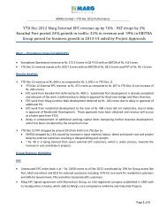 YTD Dec 2012 Marg External EPC revenue up by 76 ... - MARG Group
