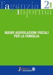 NUOVE AGEVOLAZIONI FISCALI PER LA FAMIGLIA - notaiodoria.it