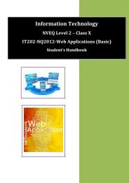 Information Technology L2 202 - Department of Higher Education