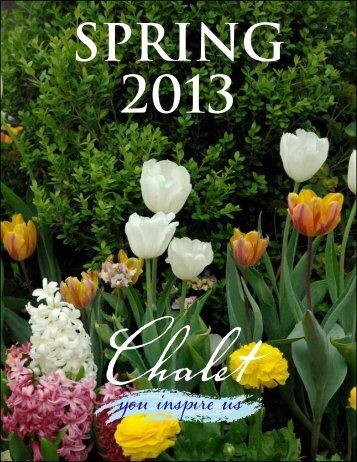 Spring 2013 - Chalet Nursery