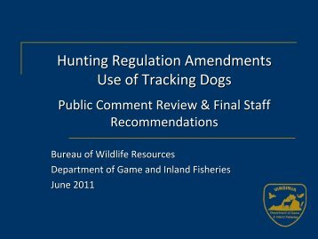 Wildlife and Boat Committee Meeting Presentation - Virginia ...