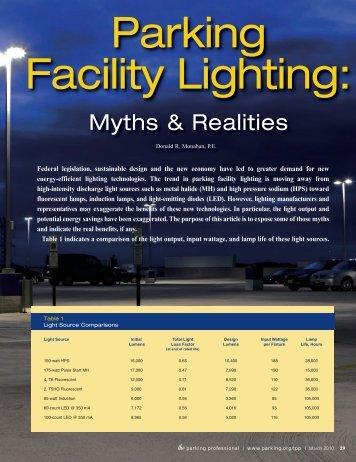 Myths & Realities - International Parking Institute