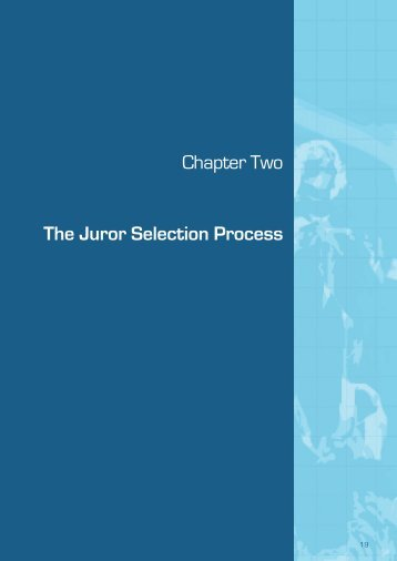 (September 2009) - Chapter 2 The Juror Selection Process