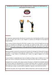 programa - Associação de Futebol de Beja - Federação Portuguesa ...
