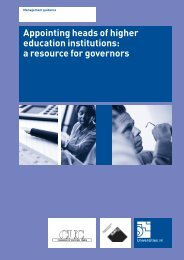 Appointing heads of higher education institutions - Universities UK