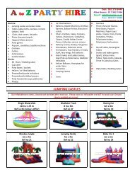 A to Z PARTY HIRE - Jumping Castle Factory