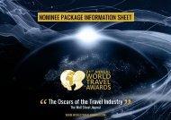 INfOrmaTION SheeT - World Travel Awards
