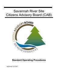 Operating Procedures - SRS CAB - Savannah River Site
