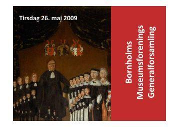 Beretning 2008 - Bornholms Museum
