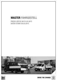 MASTER FAHRGESTELL - Renault-Angebote