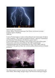 Da braut sich was zusammen Stürme, Blitze ... - NOK21