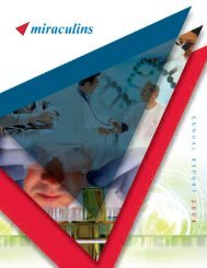 Miraculins 2004 Annual Report