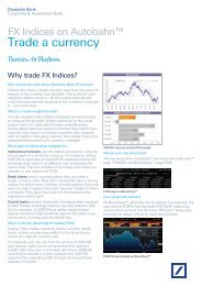Trade a currency - Autobahn - Deutsche Bank