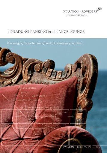 Einladung Banking & Finance Lounge mit Othmar Karas - JMC