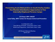 Preventing Acute Malnutrition in South Darfur ... - The iLiNS Project
