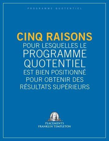 Brochure sur les perspectives Quotentiel 2013 - Franklin Templeton ...