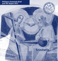 Trinitatis - Evangelische Philippus-Kirchengemeinde Köln Raderthal