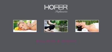 """Höfer Parfümerien - Flyer """"Wellness & Beauty"""""""