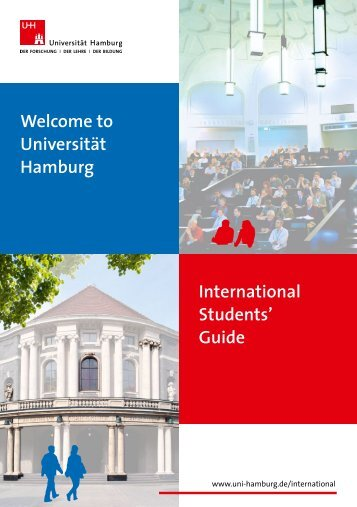 Universität Hamburg International Students' Guide - Verwaltung ...