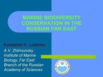 marine biodiversity conservation in the russian far east
