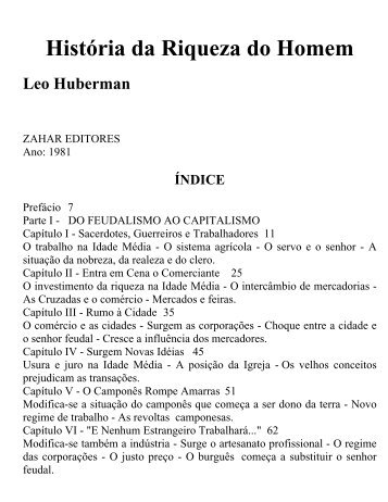 Leo Huberman - Historia da Riqueza Do Homem