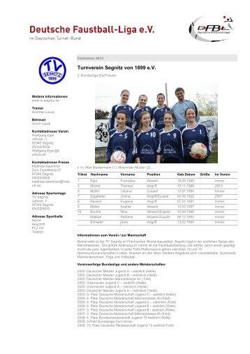 Feldsaison 2012 - Deutsche Faustball-Liga eV