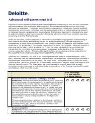 Advanced self-assessment tool - Deloitte & Touche Canada