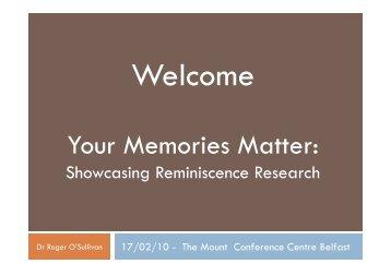 Your Memories Matter - CARDI