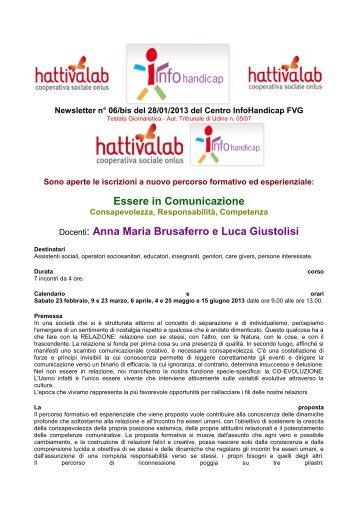 Newsletter n. 6/bis del 28/01/2013 - Infohandicap