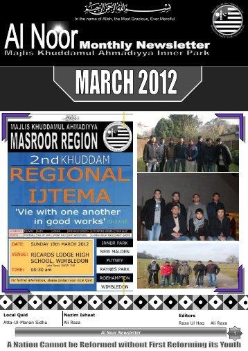 Al Noor Newsletter - Majlis Khuddamul Ahmadiyya UK