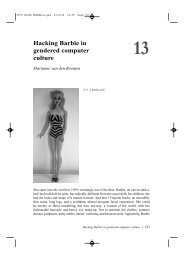 Hacking Barbie in gendered computer culture