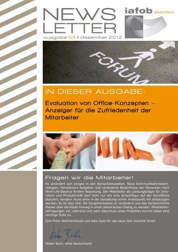 Evaluation von Office Konzepten – 04/2012 - iafob deutschland