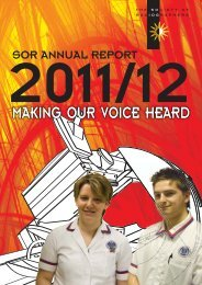 MAKING OUR VOICE HEARD - Society of Radiographers