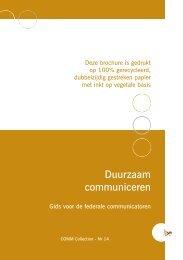 Duurzaam communiceren - Fedweb - Federale Portaalsite