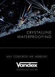 Vandex Super Crystalline Waterproofing - Safeguard Europe Ltd.